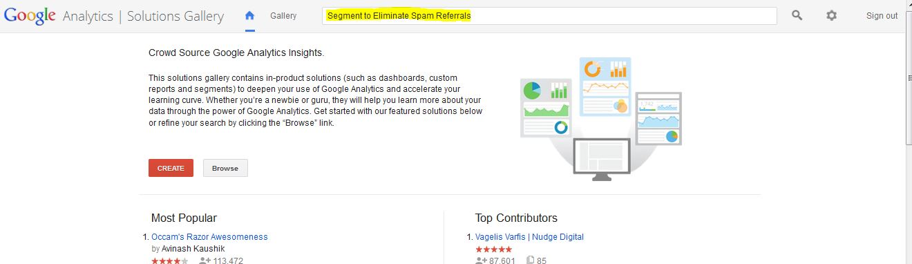 Higgins Marketing Group How to DE-SPAM Your Google Analytics Account in 5 Minutes - Solutions Gallery