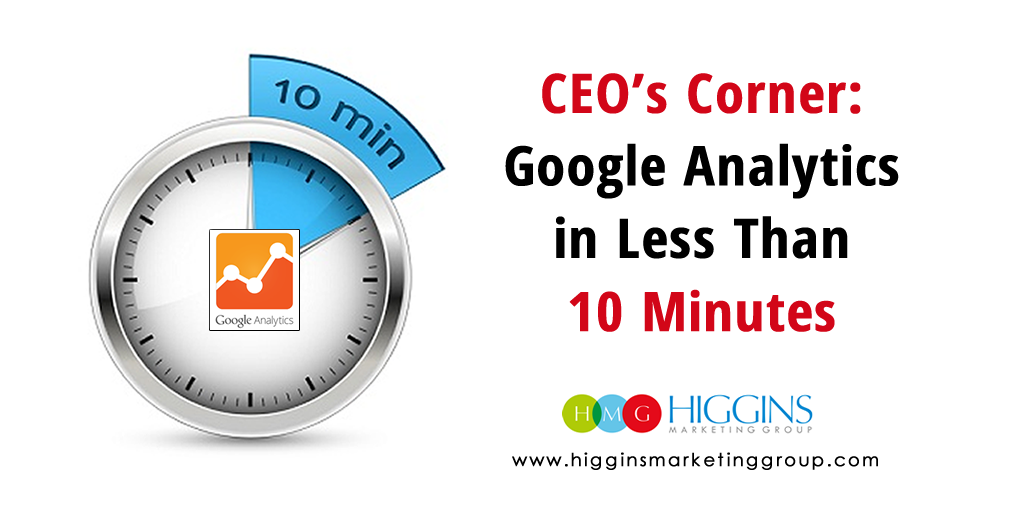CEO's Corner: Google Analytics in Less Than 10 Minutes