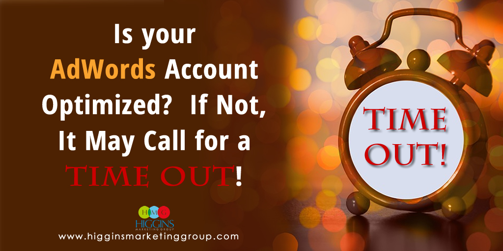 Is your AdWords Account Optimized?  If Not, It May Call for a Time Out!