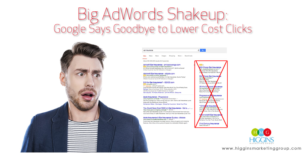 Big AdWords Shakeup: Google Says Goodbye to Lower Cost Clicks