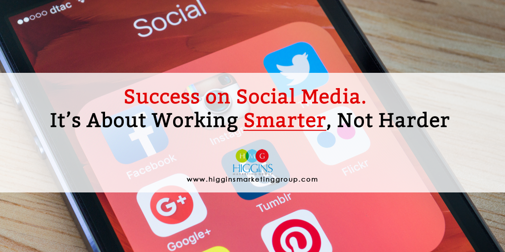 Success on Social Media – It's About Working Smarter, Not Harder