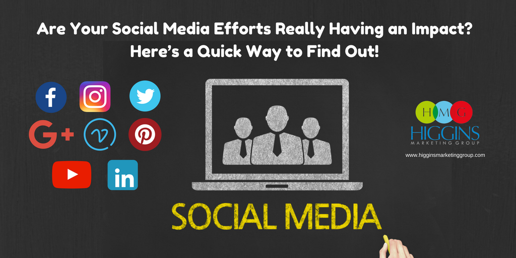 Are Your Social Media Efforts Really Having an Impact?  Here's a Quick Way to Find Out!