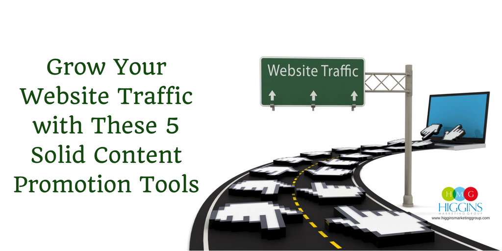 HMG - Grow Your Website Traffic with These 5 Solid Content Promotion Tools (1024x512) compressed
